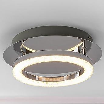 Runde 230v Deckenleuchte Led Leds Und Leuchtring Lampe Chromgestell rdBeoCx