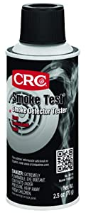 CRC 2105 Smoke Test Brand Liquid Smoke Detector Tester, 2.5 oz Aerosol Can, Clear