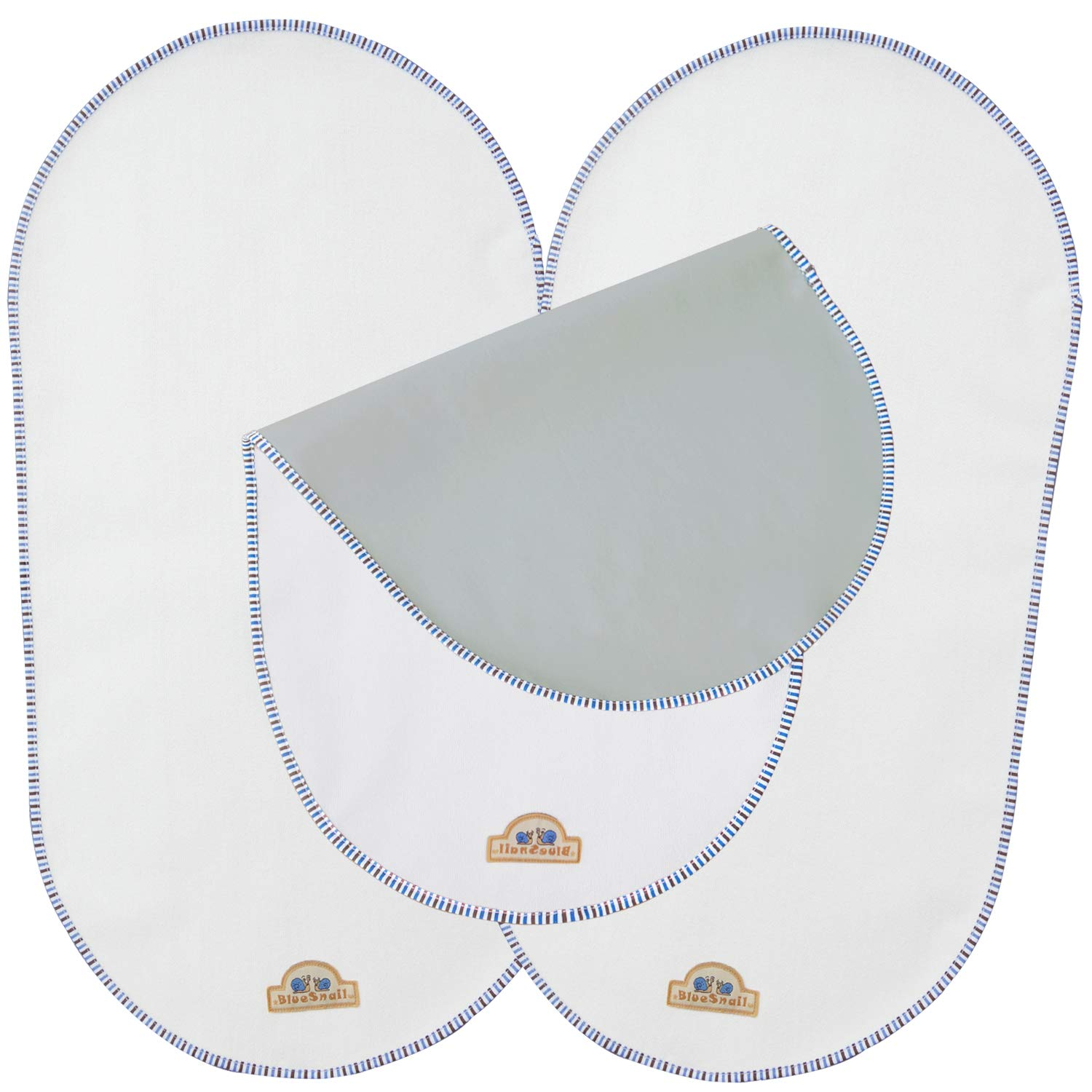 """BlueSnail Waterproof Changing Pad Liners for Babies 3 Count (White, 13.3""""x26"""")"""