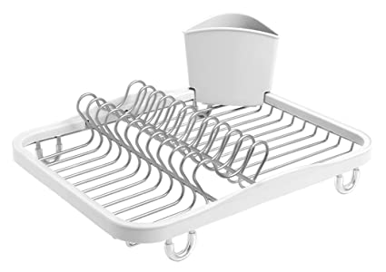 d3f7c58dd0ae Umbra Sinkin Dish Drying Rack - Dish Drainer Kitchen Sink Caddy with  Removable Cutlery Holder,