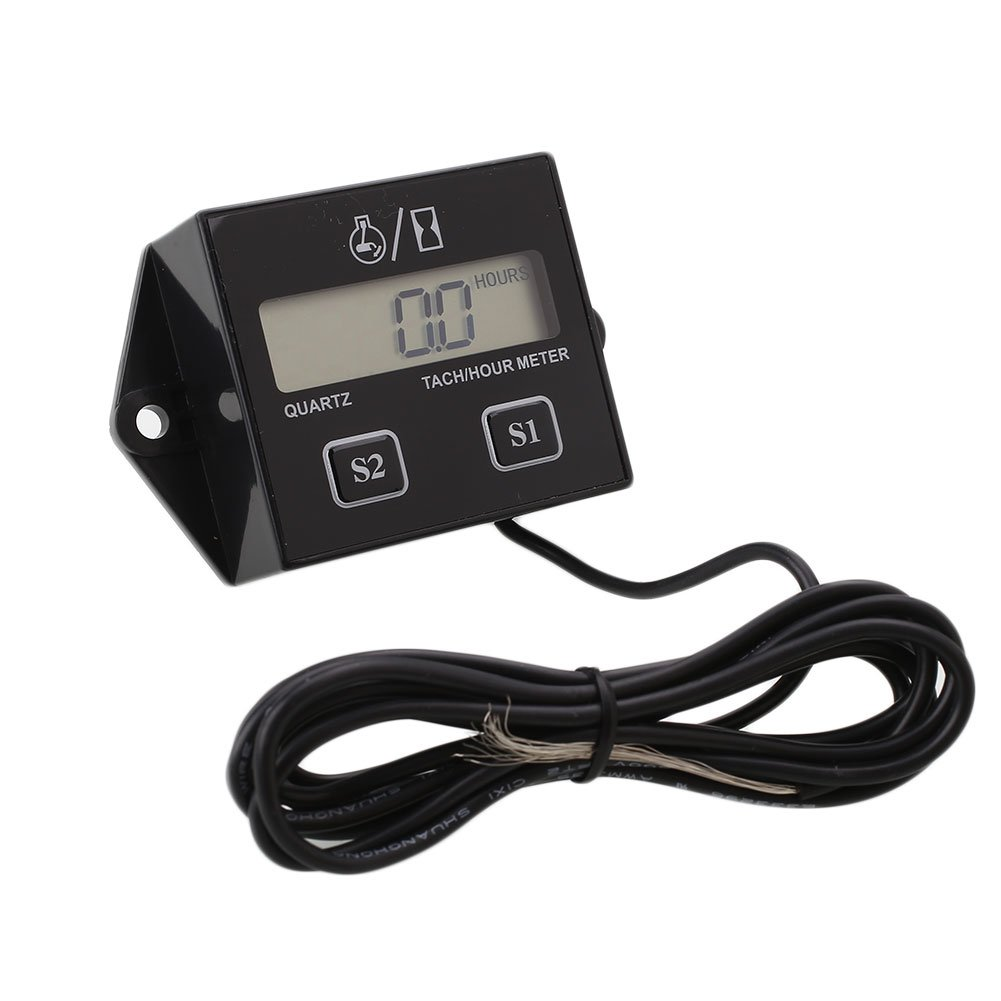 Sedeta Digital Engine Tach Tachometer Hour Meter RPM Inductive for Motorcycle Motor ATV