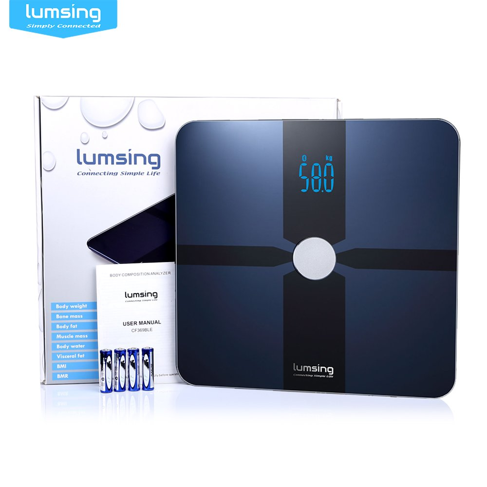 Amazon.com: Lumsing Bluetooth Body Fat Scale-Smart Digital Bathroom Scale with APP for IOS and Android-Measures for Body Weight, Body Fat, Water, ...