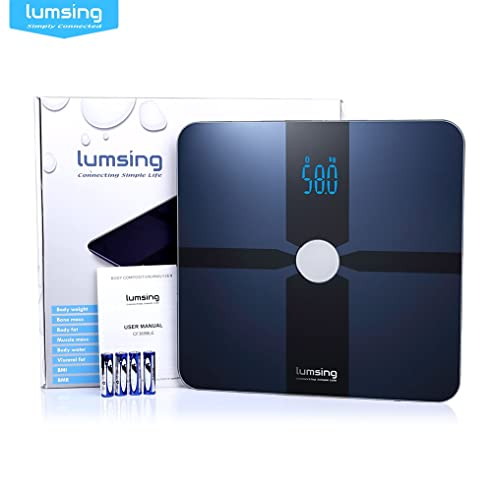 Lumsing Digitale Waage, Smart Body Analyzer, Bluetooth, Mit Kostenloser App  Fu0026uuml;r