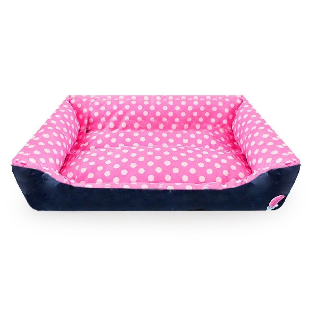 B 453513cm B 453513cm WUTOLUO Pet Bolster Dog Bed Comfort Oxford Cloth Polka Dot Lollipop square pet dog cat bed mat (color   B, Size   45  35  13cm)