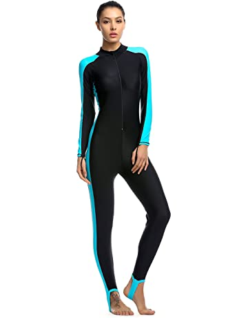 7cacc298ce0fd Women Fitness Full Length Wetsuit Surfing Suit One Piece Long Sleeve  JumpSuit Surfing Diving Bodyboarding