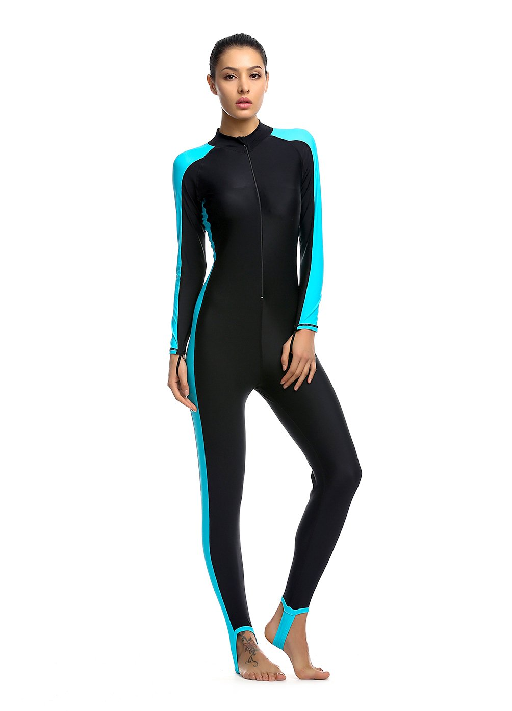 Women Fitness Full Length Wetsuit Surfing Suit One Piece Long Sleeve  JumpSuit Surfing Diving Bodyboarding c480b9224
