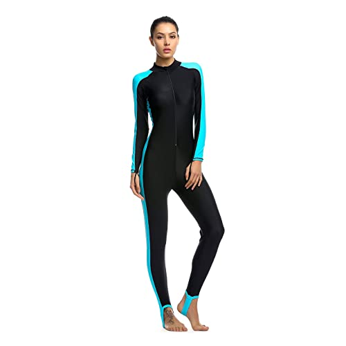 24b87e5444 OUO Women Fitness Full Length Surfing Suit One Piece Long Sleeve Swimsuit