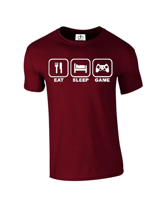 a4dacefc014 Eat Sleep Gam Gamer Gaming Funny Gift Unisex 4 Colours Tshirt XS-3XL (Eat  Sleep Game