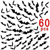 Tools & Hardware : Ivenf Halloween Party Supplies Decorations Window Decor Scary Bats 3D Wall Decals, 60 Pack