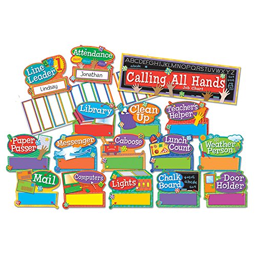 Helping Hands Pocket Chart - Eureka Hands on Management Center 'Job Chart' Back to School Mini Bulletin Board Set, 41 pc, 6.5'' W x 26'' L