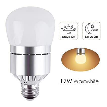 Led dusk to dawn sensor light bulb 12w 1200lm e26 socket 3200k warm led dusk to dawn sensor light bulb 12w 1200lm e26 socket 3200k warm whitetomatic aloadofball Images