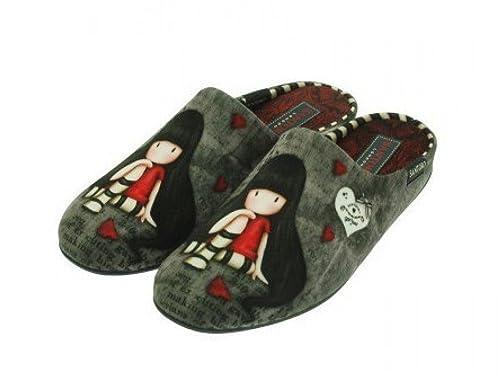 Garzon, 043657, Chinela paño gris de Mujer, talla 41: Amazon.es: Zapatos y complementos