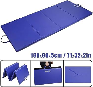 CCLIFE Tapis de gymnastique pliable Tapis de yoga pliant Matelas gymnastique