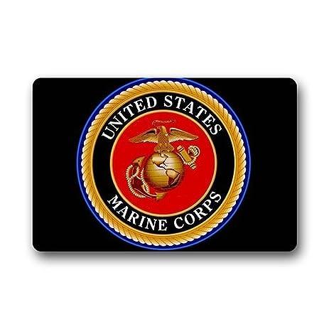 Mr. Six Custom Door Mat United States Marine Corps Logo Indoor/Outdoor  Doormat Non