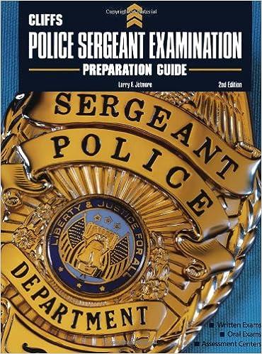 CliffsTestPrep Police Sergeant Examination Preparation Guide ...