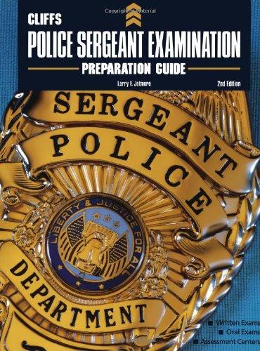 CliffsTestPrep Police Sergeant Examination Preparation Guide