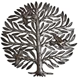 Cheap Family Decorative Tree of life, Handmade in Haiti, hang indoor or outdoor, no machines used, 15″ X 15″