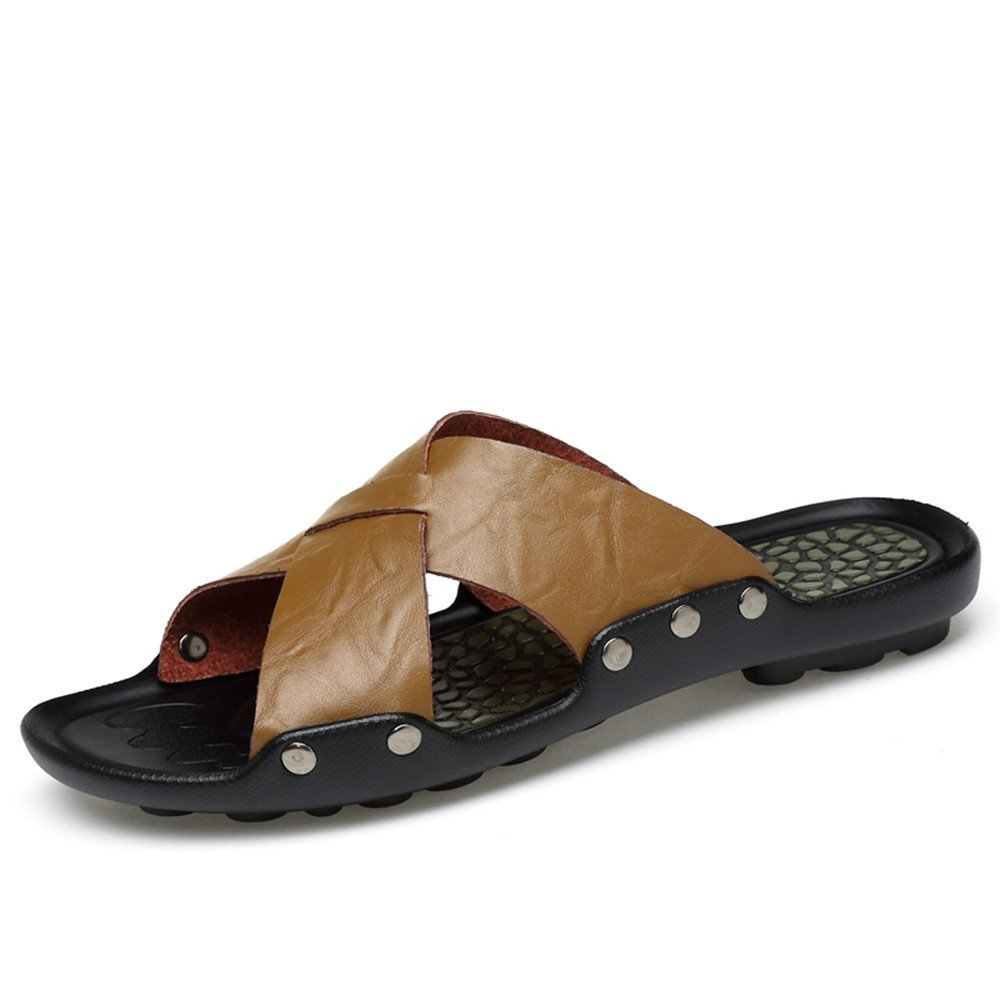 Zapatillas de Playa para Hombres Antideslizantes, Sandalias de Moda, Interiores y Exteriores 41 EU|Caqui