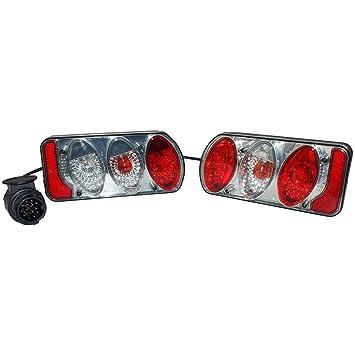 Eufab 11504 Rücklicht-Set mit Klarglas komplett mit Verkabelung und ...