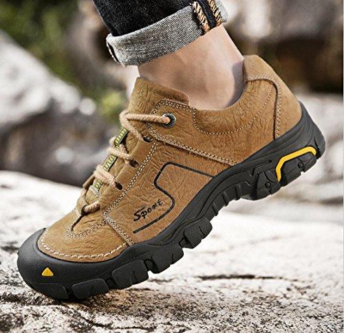 all'usura antiscivolo dimensioni trekking uomo 46 corsa da da WSK corsa da scarpe grandi resistenti sportive da scarpe da in di Scarpe uomo da scarpe pelle Orange outdoor uomo 8744xw