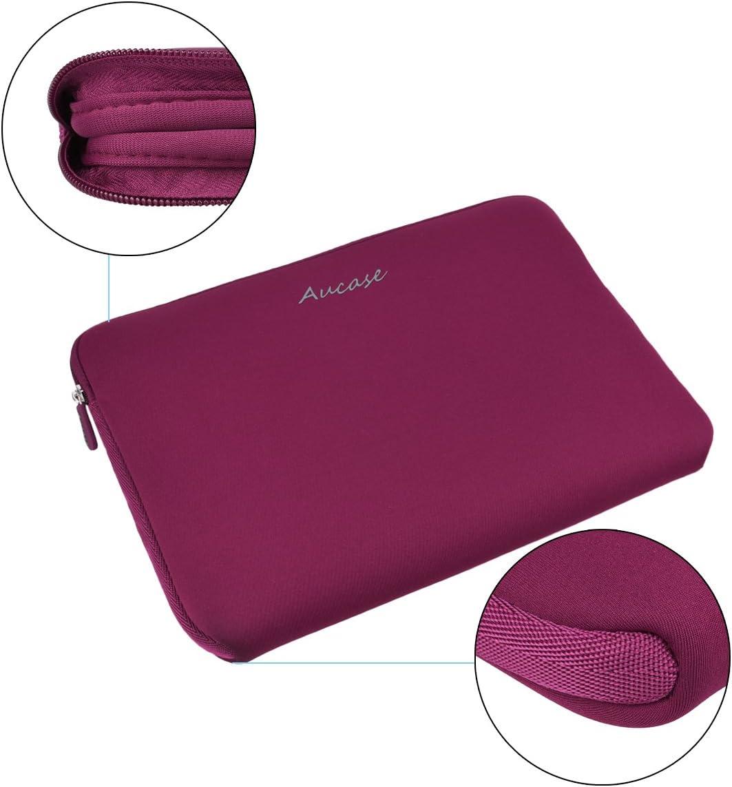 Custodia protettiva per computer portatile tablet 9.7-11 inch leggera idrorepellente Chevron rosa Aucase in neoprene
