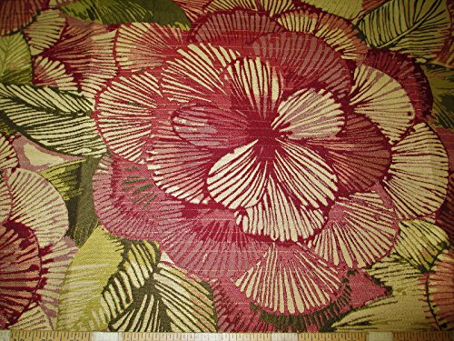 Richloom Fabric Upholstery Drapery Tapestry Suzette Rose Floral QQ31