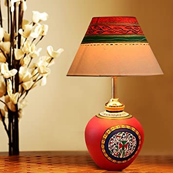 Buy Exclusivelane 13 Inch Terracotta Handpainted Warli Matki Table