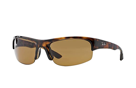 445faf22ed Image Unavailable. Image not available for. Color  Ray-Ban Sport Wrap  Tortoise Sunglasses RB 4173 ...