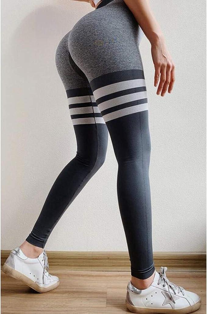 Women/'s High Waist Yoga Leggings Seamless Fitness Sports Gym Pants Trousers TSL