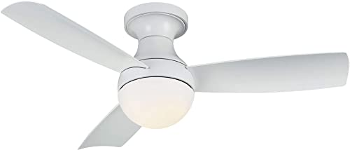 Orb Indoor/Outdoor 3-Blade Smart Compatible Ceiling Fan 44in Matte White