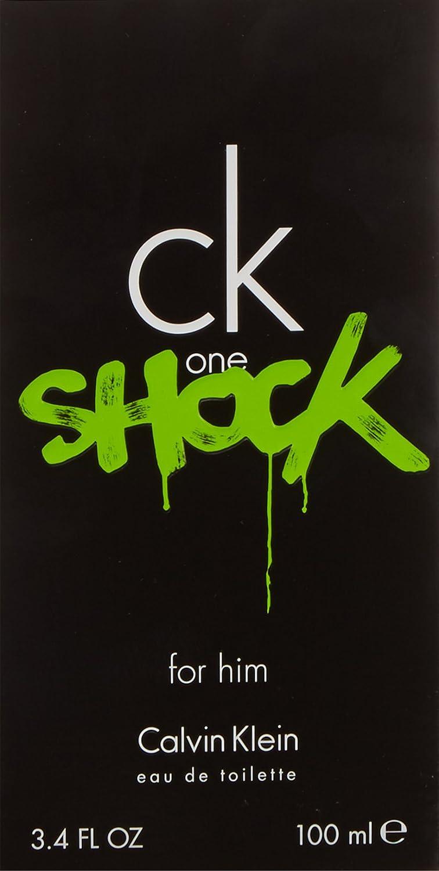 f3a9f7a4e6d568 Calvin Klein One Shock for Him Men Eau De Toilette Spray, 3.4 Ounce