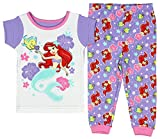 Disney The Little Mermaid Baby Girls' Toddler 2pc Pajama Set (18M)