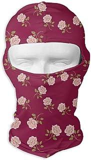Bandana légère de masque facial de sport d'utilisation multi tactique rouge de vin de roses de cru pour la randonnée, en cours d'exécution