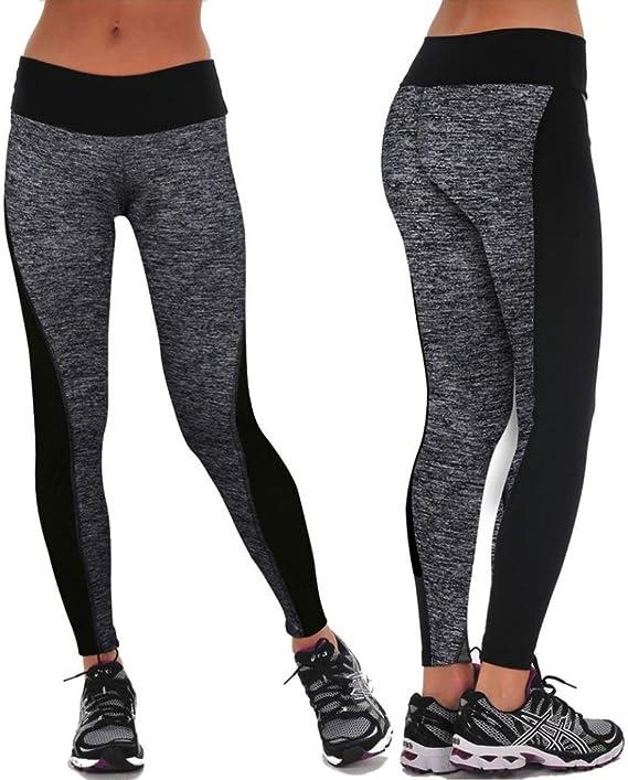 Gusspower Pantalones Yoga Mujeres Mallas Encaje Deportivas Mujer ...