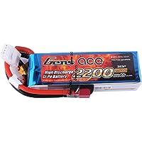 Gens ace Batteria LiPo 2200mAh 11.1V 25C 3S per Elicottero Aereo FPV Quadcopter Drone nero Ricambi RC Auto