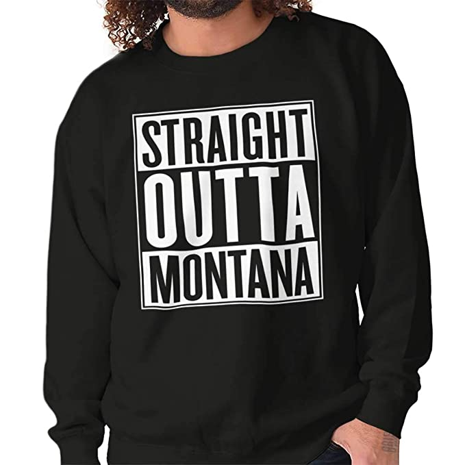 Straight Outta Montana State Funny Movie T Shirts Ideas de regalo para hombre - negro -: Amazon.es: Ropa y accesorios