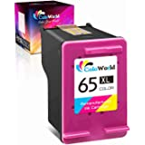 ColoWorld Remanufactured Ink Cartridge Replacement for HP 65 65XL (1 Color) to Use with HP Envy 5055 5052 5012 5010 5020 5030