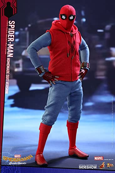 Amazon Com Hot Toys Marvel Spider Man Homecoming Homemade Suit