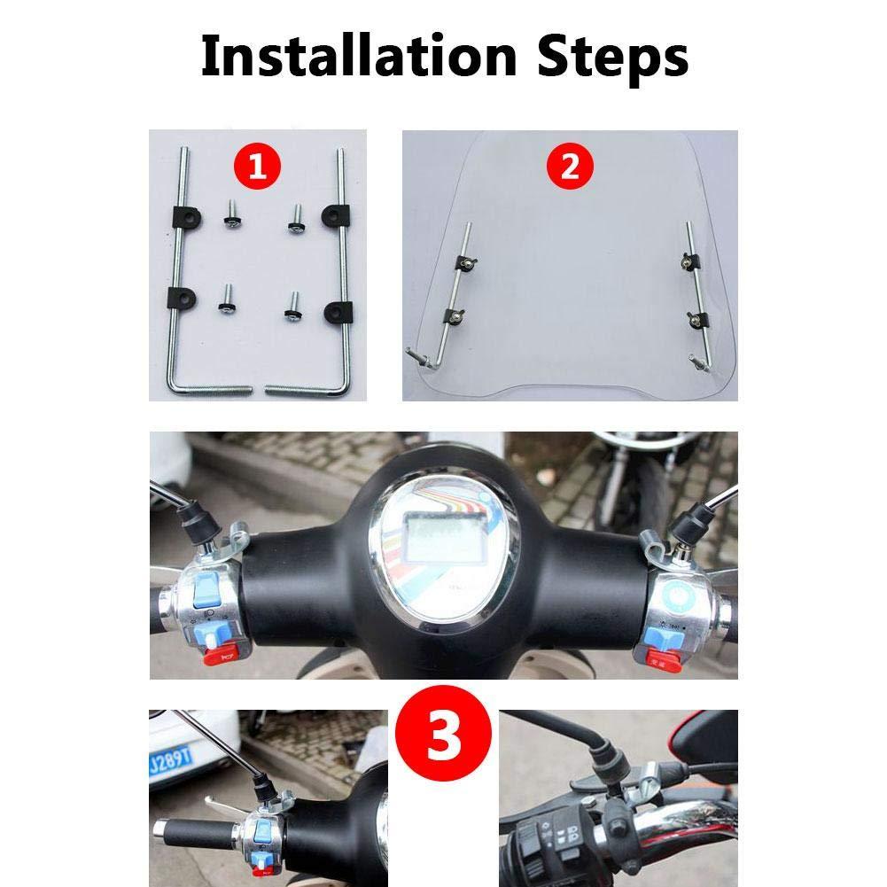 con Forma Rigida e Liscia per Veicoli elettrici Resistente al Freddo e ad Alto Risparmio energetico in policarbonato e Resina infrangibile D.ragon Antivento Paravento Universale per Moto