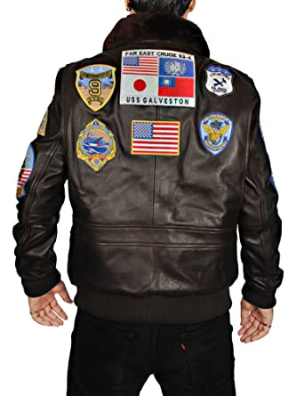 3aca3f2faaa Image Unavailable. Image not available for. Color  ABz Leathers Tom Cruise  Pete Maverick Top Gun Flight Bomber Jacket ...