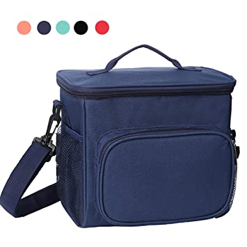 23d6ebb2e383 Esonmus Insulated Lunch Bag,Cooler Bags for Women Leakproof Fresh Keep Cool  Lunch Bag for Lunch Food,School,Office,Picnic with Detachable Shoulder ...