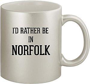I'd Rather Be In NORFOLK - Ceramic 11oz Silver Coffee Mug, Silver