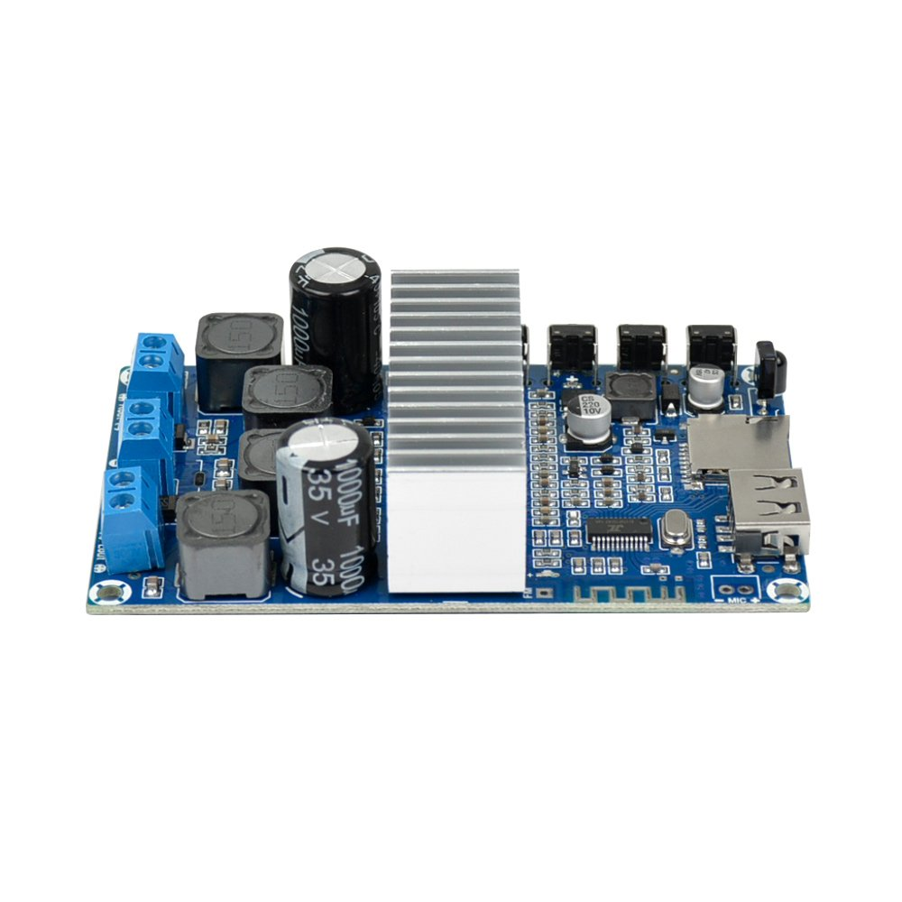 Aiyima TPA3116D2 2.0 Bluetooth 4.2 Amplifier Board 50Wx2 FM Radio USB Decode WMA MP3 Calls Bluetooth Receive Board