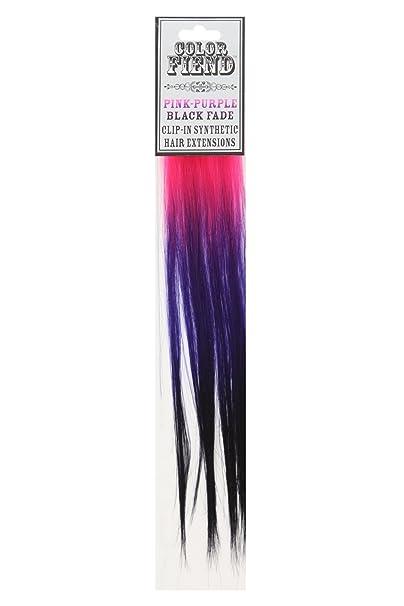 Amazon color fiend pink purple black fade clip in synthetic amazon color fiend pink purple black fade clip in synthetic hair extensions 2 pack clothing pmusecretfo Image collections
