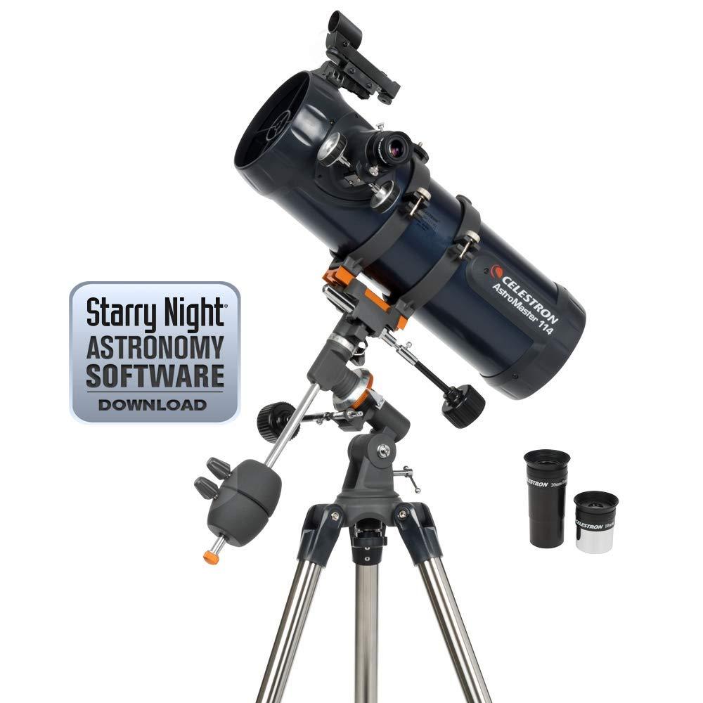 Celestron 31042 AstroMaster 114 EQ Reflector Telescope (Renewed) by Celestron