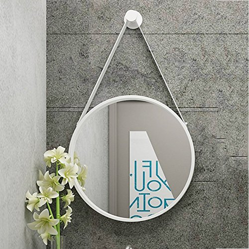 GRJ Household Items& Cosmetic Mirror Nordic Round Wall-mounted Bathroom Toilet Mirror Wall -