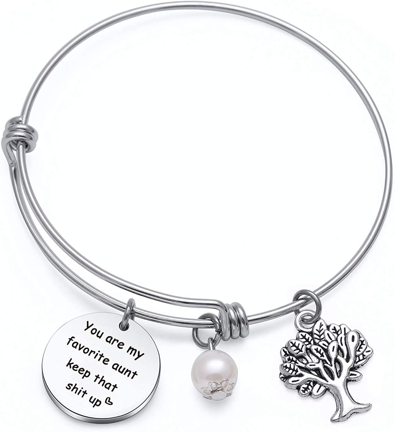 You are My Favorite Aunt Bracelet For Auntie Gifts Sisters Aunt Christmas Birthday Gift Keychain