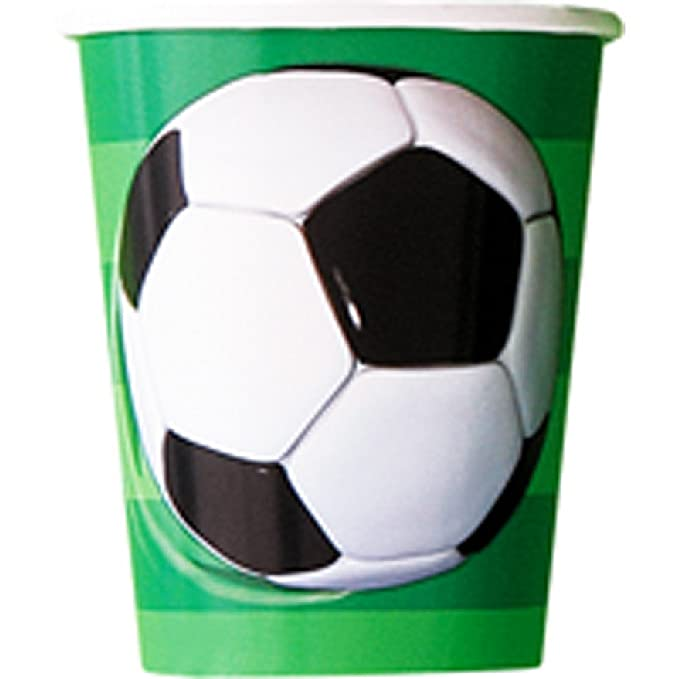 Unique Party - Pack de 8 vasos con diseño de balón de fútbol ...