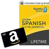 Rosetta Stone: Learn Spanish (Latin America) [Lifetime Online/Mobile Access - Digital Code] + $20 Gift Card