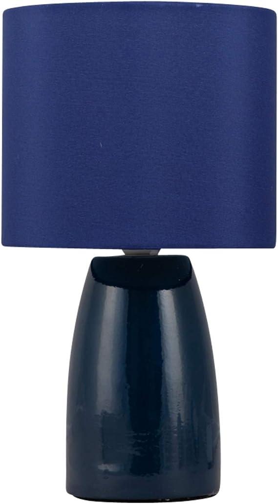 Navy Blue Ceramic 25cm Table Lamp